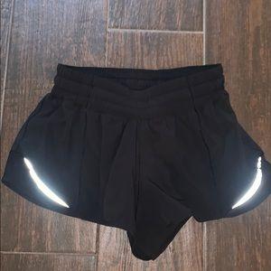 Lulu lemon shorts - black hotty hot
